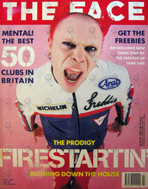 PRODIGY - 'The Face' - July 1996 - No. 94 - Keith Flint On Front Cover - 1