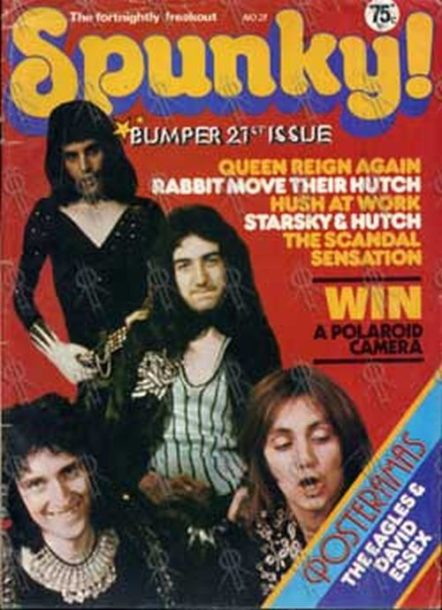 QUEEN - 'Spunky' Magazine 1976/77 - Queen On Front Cover - 1