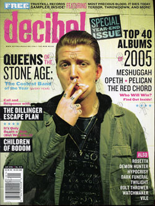 QUEENS OF THE STONE AGE - 'Decibel' - January 2006 - Josh Homme On Cover - 1