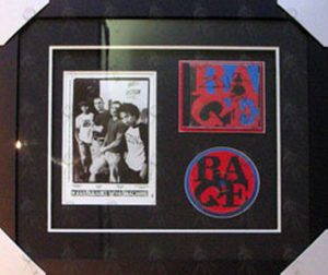 RAGE AGAINST THE MACHINE - Custom Framed 'Renegades' Signed CD & Promo Photograph - 1