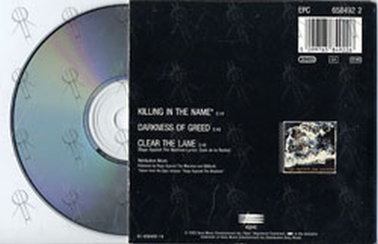 Rage Against The Machine Killing In The Name Cd Single