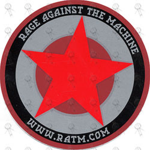 Rage Against The Machine Star Design Logo Sticker