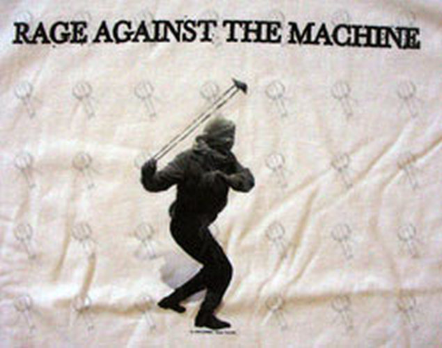 Rage Against The Machine White Stone Thrower Design T