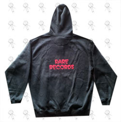 RARE RECORDS - Limited Edition Black With Red Logo Hoodie - 3