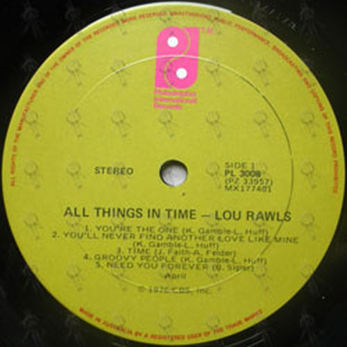 RAWLS-- LOU - All Things In Time - 3