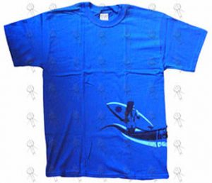 RED HOT CHILI PEPPERS - Blue 'Surfer' Design T-Shirt - 1