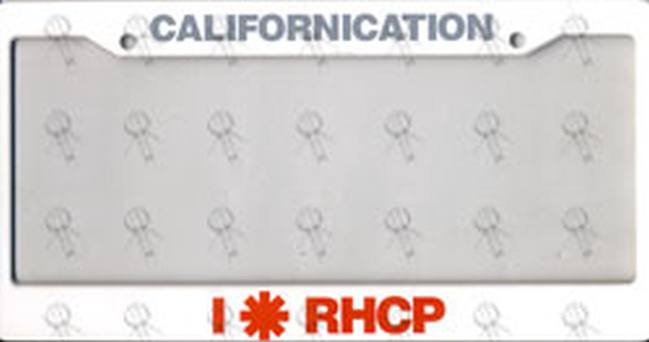 RED HOT CHILI PEPPERS - 'Californication' Number Plate Frames - 1