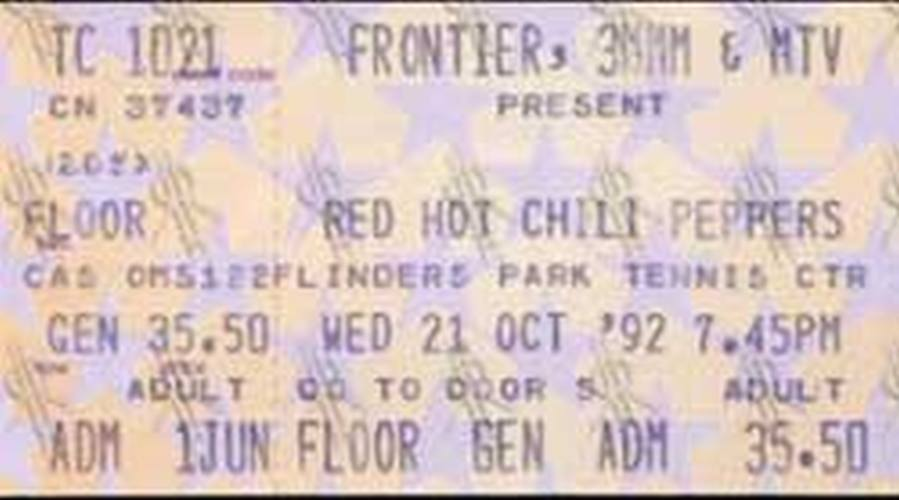 RED HOT CHILI PEPPERS - Flinders Park Tennis Centre