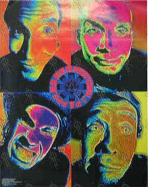RED HOT CHILI PEPPERS - 'Flouro Faces' Design - 1