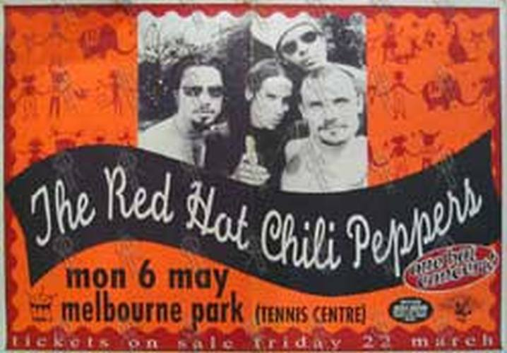 RED HOT CHILI PEPPERS - Melbourne Park - Monday 6th May 1996 Australian Tour Poster - 1