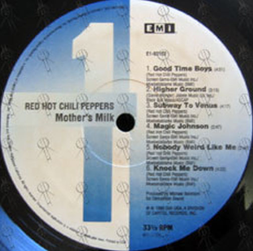 RED HOT CHILI PEPPERS - Mother's Milk (12 Inch / LP, Vinyl ...