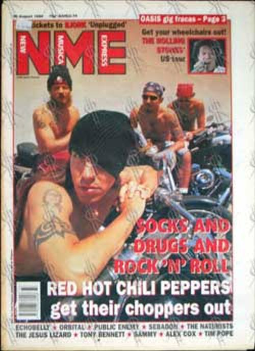 RED HOT CHILI PEPPERS - 'NME' -20th August 1994 - Red Hot Chili Peppers On Cover - 1