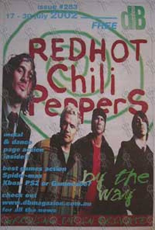RED HOT CHILI PEPPERS - 'dB' - No.283 17 to 30 July 2002 - Red Hot Chili Peppers On The Cover - 1
