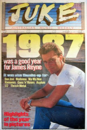 REYNE-- JAMES - 'Juke' - 26th December 1987 - Issue #661 - James Reyne On Cover - 1