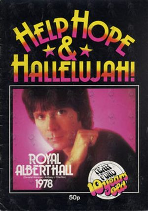 RICHARD-- CLIFF - Help Hope & Hallelujah! 1978 Tour Program - 1