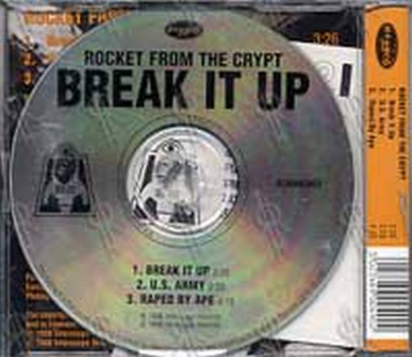 Rocket From The Crypt Break It Up Part 2 Of A 2cd Set