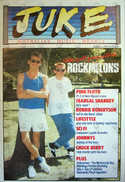ROCKMELONS - 'Juke' - 5th March 1988 - Issue #671 - Rockmelons On Cover - 1