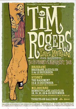 ROGERS-- TIM - 'Reprobates Agreement' 2007 Tour Double-Sided Colour Flyer - 1