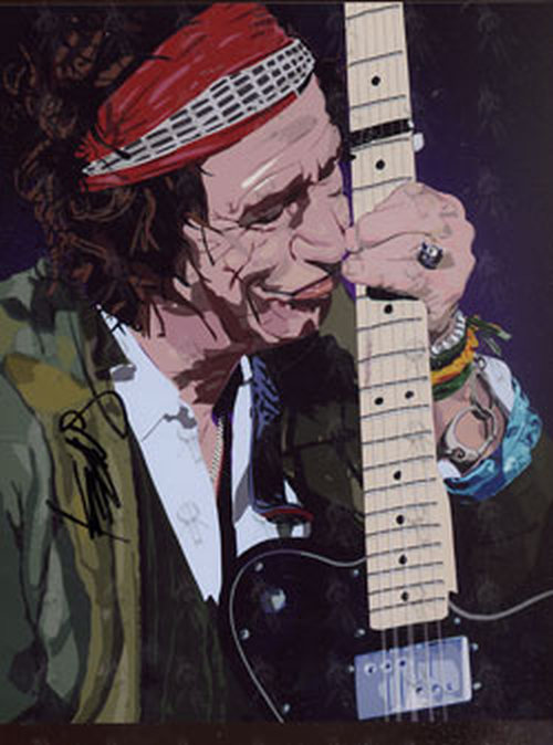 ROLLING STONES - Cartoon Portrait Autographed By Keith Richards - 1
