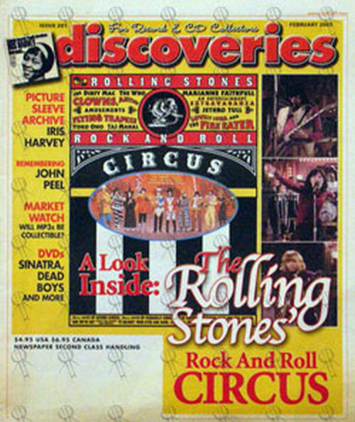 ROLLING STONES - 'Discoveries' - Febuary 2005 - The Rolling Stones Circus On Front Cover - 1