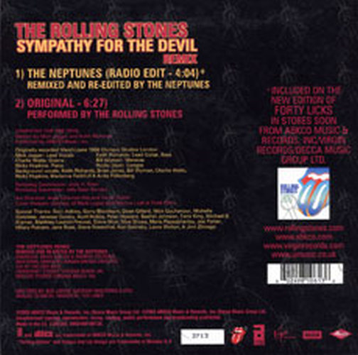 SYMPATHY FOR THE DEVIL BASS by The Rolling Stones ...