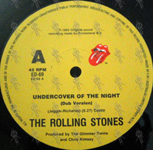 Rolling Stones The Undercover Of The Night 12 Inch