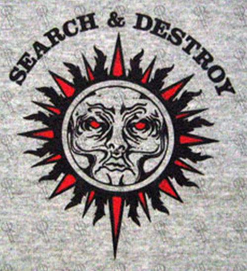 Rollins Henry Grey Search And Destroy T Shirt