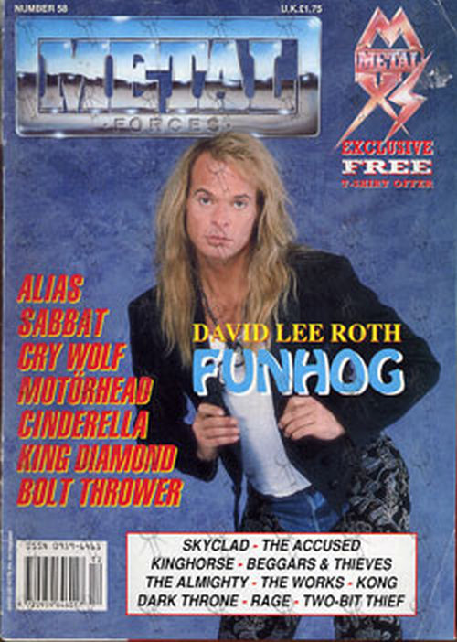 ROTH-- DAVID LEE - 'Metal Forces' - David Lee Roth On Cover - 1