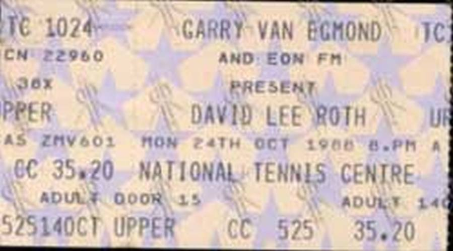ROTH-- DAVID LEE - National Tennis Centre
