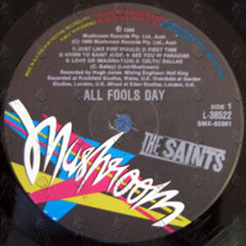 Saints The All Fools Day 12 Inch Lp Vinyl Rare