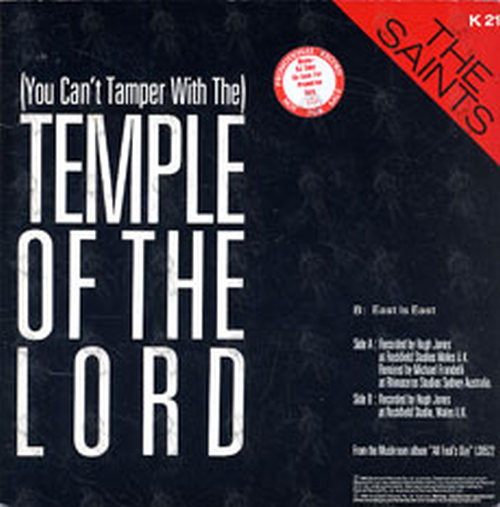 Saints The Temple Of The Lord 7 Inch Vinyl Rare