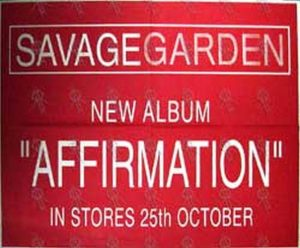 SAVAGE GARDEN - 'Affirmation' Album Poster - 1