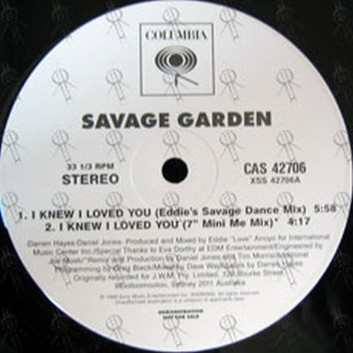 Savage garden i knew i loved you 12 inch lp vinyl rare records for I knew i loved you by savage garden