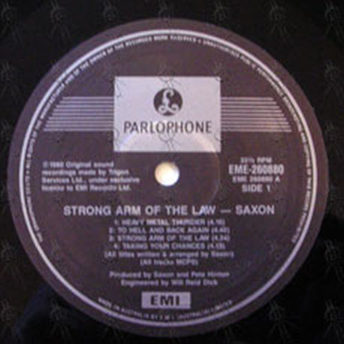 Saxon Strong Arm Of The Law 12 Inch Lp Vinyl Rare