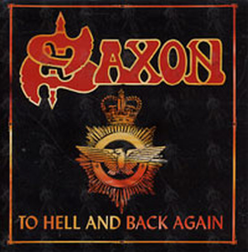 Saxon to hell and back again promo sticker 1