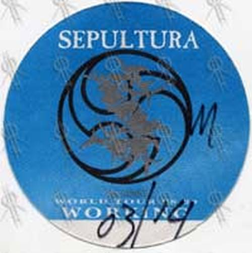 SEPULTURA - 'Against' World Tour 1998-99 Working Crew Backstage Pass - 1