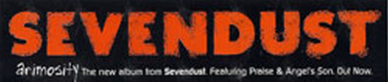 SEVENDUST - 'Animosity' Era Logo Sticker - 1