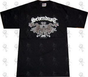 SEVENDUST - Black 'Double Dragon' Design T-Shirt - 1