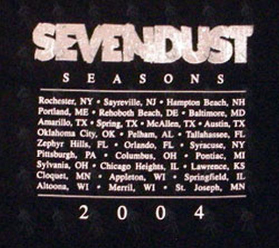 Sevendust Black Seasons Tour T Shirt Clothing Shirts