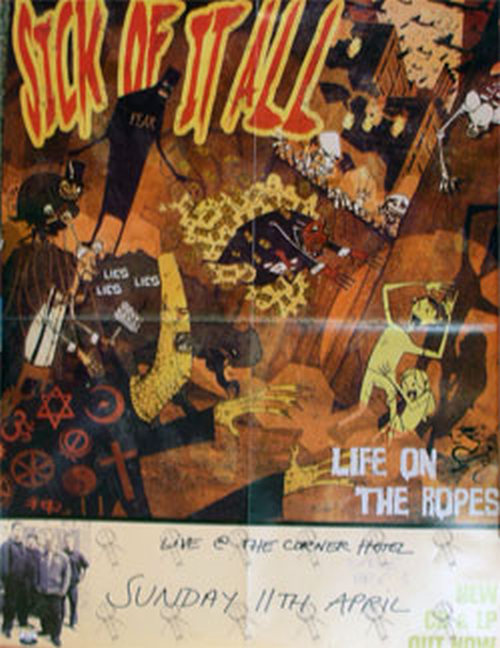 SICK OF IT ALL - Life On The Ropes Album Tour Poster - 1