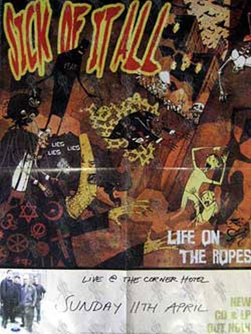 SICK OF IT ALL - 'Life On The Ropes' Gig Poster - 1