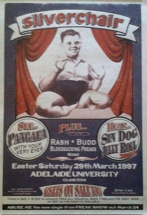 SILVERCHAIR - Adelaide University - 29th March 1997 Show Poster - 1