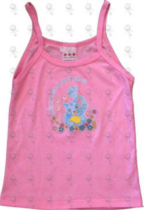 SILVERCHAIR - Girls Baby Pink 'Paint Pastel Princess' Design Fanclub Only Singlet - 1