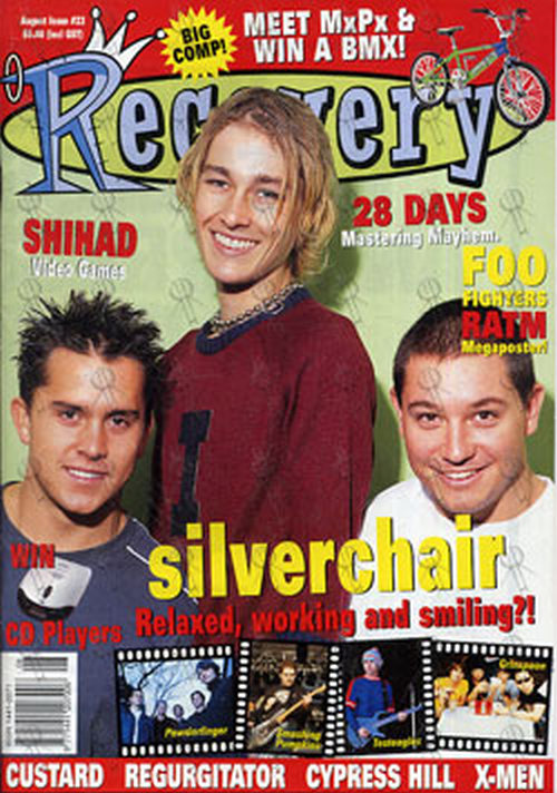 SILVERCHAIR - 'Recovery' - August 2000 - Silverchair On Cover - 1