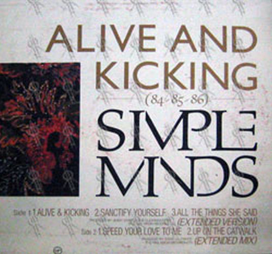 Simple Minds Alive And Kicking 84 85 86 12 Inch Lp