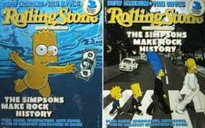 SIMPSONS-- THE - 'Rolling Stone' Magazine 'The Simpsons Make Rock History' Alternative - 1