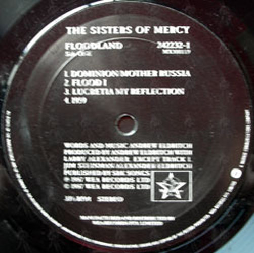 Sisters Of Mercy The Floodland 12 Inch Lp Vinyl