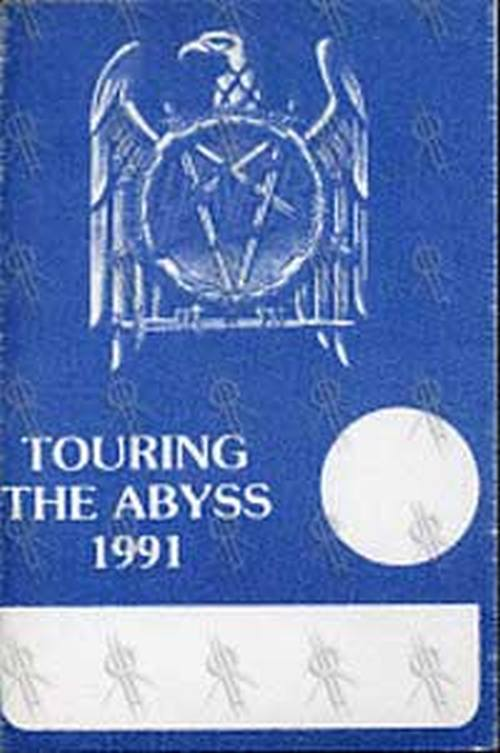 SLAYER - 'Touring The Abyss' 1991 Tour Backstage Pass - 1