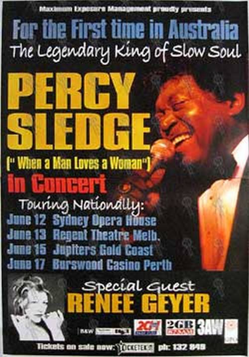SLEDGE-- PERCY - 'In Concert' Australian Tour Poster - 1