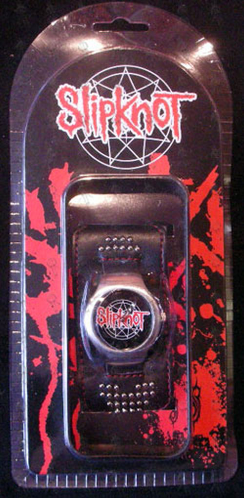 Slipknot Black Amp Red Logo Design Dial Watch